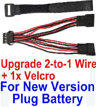 Foxx S911 Parts Battery-New version Upgrade 2-to-1 wire and Velcro-Two battery can be used together,Run 2x Time than usual,Can be usde for Ner version JYRC Foxx S911 Parts S911 RC Monster Truck
