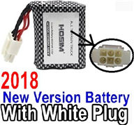 GPToys 9115 Parts 2018 New version 9.6V 800MAH Battery with 6-Wire White color plug Parts-,GP Toys 9115 RC Car Parts