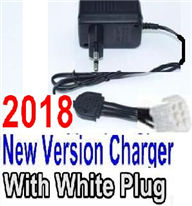 Foxx S911 Parts Chargr-2018 New version Charger-US Converter Socket with 6-Wire White Plug Parts,Foxx S911 RC Car Parts