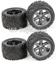 XinleHong Toys S913 9123 Parts-ZJ01 The Left and Right Wheel(Total 4pcs),XinleHong S913 9123 RC Car Parts