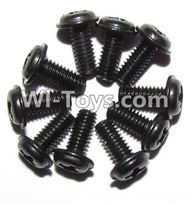 XinleHong Toys 9120 Parts LS14 Round head screws with meson(M2.5x6x5)-10PCS,XinleHong 9120 RC Car Parts
