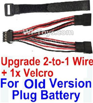 XinleHong Toys 9120 RC Car Parts-Old version Upgrade 2-to-1 wire and Velcro-Two battery can be used together,Run 2x Time than usual,XinleHong 9120 RC Car Parts