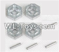 Hosim 9125 Parts Hexagonal round seat adn Pin(Each 4pcs) Parts-ZJ09,Hosim 9125 RC Car Parts