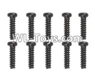 Hosim 9125 Parts screws-Pan head Cross recessed screws(10PCS)-2.6×13.5PBHO Parts-LS02,Hosim 9125 RC Car Parts