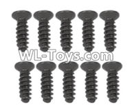 Hosim 9125 Parts screws-Pan head Cross recessed screws(10PCS)-2.6×8KBHO Parts-LS10,Hosim 9125 RC Car Parts
