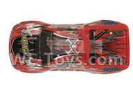 Xinlehong Toys 9130 Parts Body Shell cover-RC Car canopy,Car Shell Cover-Red-SJ01,XinleHong 9130 RC Car Parts