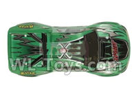 Xinlehong Toys 9130 Parts Body Shell cover-RC Car canopy,Car Shell Cover-Green-SJ01,XinleHong 9130 RC Car Parts