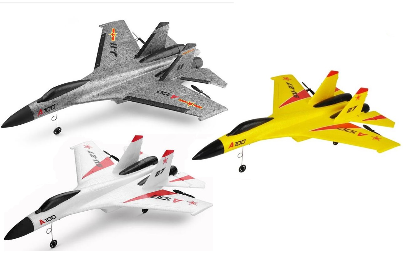 Wltoys XK A100-SU27 J11 RC Plane Drone,  WLtoys A100 SU27 J-11 2.4G 3CH RC Airplane Fixed Wing Plane