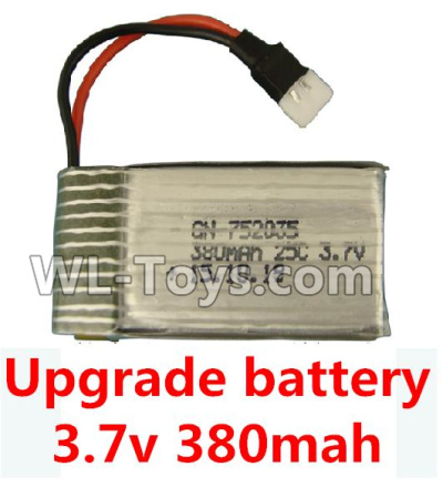 XK A100 Parts-Upgrade Battery-3.7V 380mah Battery 25-(Size-3.9X2X0.7CM)-1pcs Parts