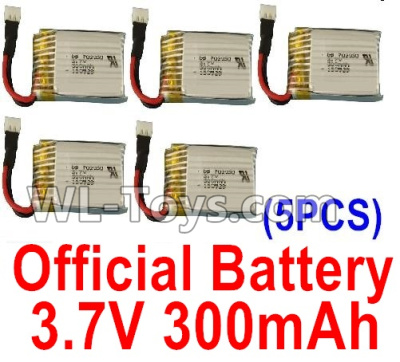 XK A100 Parts-Battery Parts-Official 3.7V 300mah Battery(5pcs)-A100.0011 Parts