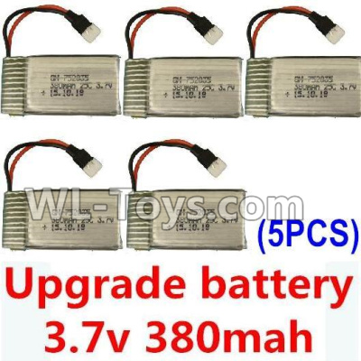 XK A100 Parts-Upgrade Battery-3.7V 380mah Battery 25-(Size-3.9X2X0.7CM)-5pcs Parts