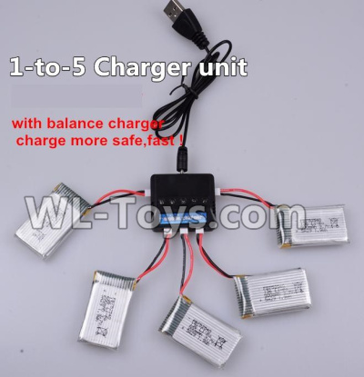 XK A100 Parts-Upgrade 1-to-5 charger and balance charger(Not include the 5 battery) Parts