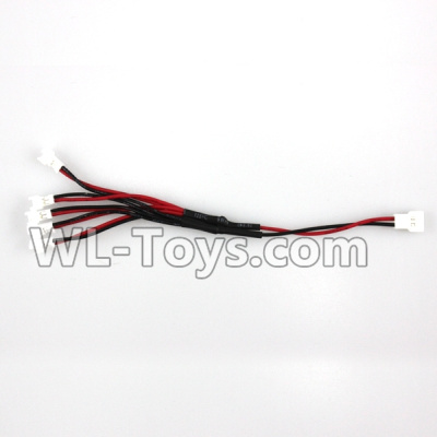 XK A100 Parts-Upgrade 1-to-5 Plug wire(Small White-to-White Plug) Parts