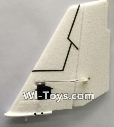 XK A1200 Parts-Vertical Tail wing unit, All parts are assembled(Include the Servo, Epo Foam Vertical Tail wing, Fixed parts, Screws, Swing arm, etc.)
