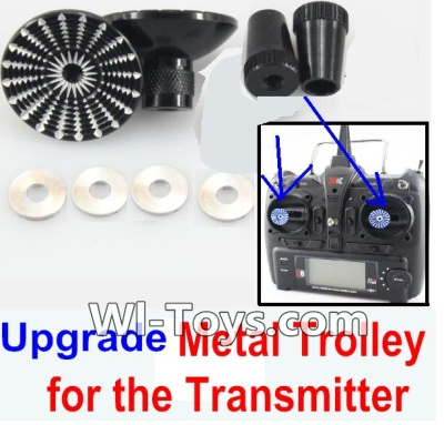 XK A1200 Parts-Upgrade Metal Trolley for the Transmitter-Black(Can be used for XK A1200)