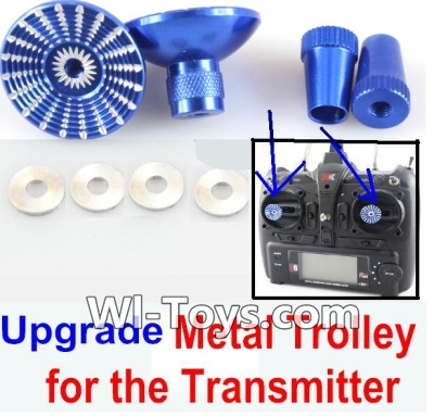 XK A1200 Parts-Upgrade Metal Trolley for the Transmitter-Blue(Can be used for XK A1200)