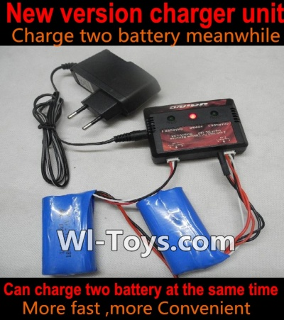 XK A1200 Parts-Upgrade charger and balance charger, Can charge two battery are the same time(Not include the 2x battery)
