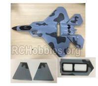 XK A180 Parts-Fuselage Body assembly with Foam, Vertical Tail wing and Battery compartment cove-A180.0014
