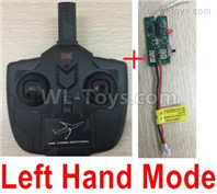 Wltoys XK A200 Transmitter Parts, Remote Control and Receiver board.
