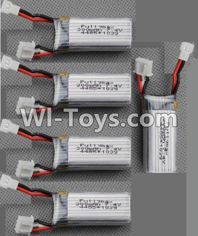 XK A430 Parts-Batteries-Official 7.4v 300mah Battery(5pcs)