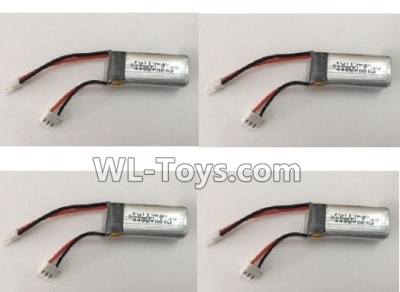 XK A800 Parts-Battery-7.4V 300mAh 20C Battery(4pcs)-F959.010.03