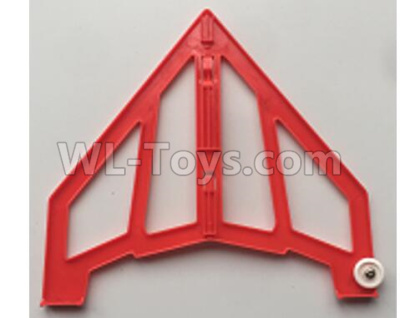 XK X420 Parts-Left Vertical Tail Wing Set Red-X420.0004