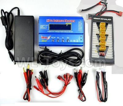 XK X450 Parts-Upgrade Charger unit, Can charger 6x battery at the same time(Power & B6 Charger & 1-To-6 Parallel charging Board)