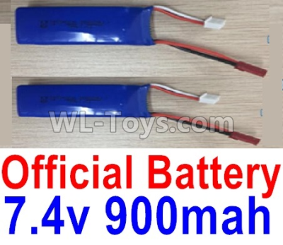XK X520 Parts-Lipo Battery packs, 7.4V 900mah Battery(2pcs)-X520.0013