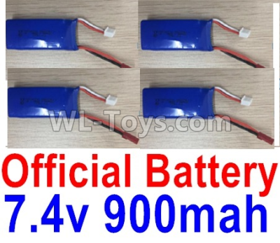 XK X520 Parts-RC Batteries, 7.4V 900mah Battery(4pcs)-X520.0013-03