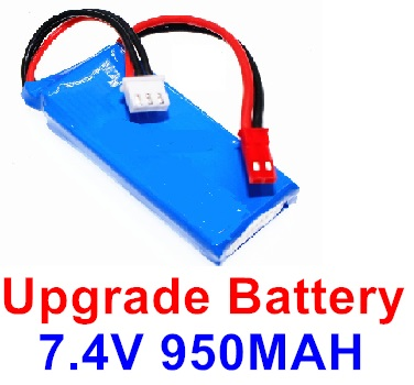 XK X520 Parts-Upgrade Battery, 7.4V 950mah Battery(1pcs)-Size-65x26x14mm-X520.0013