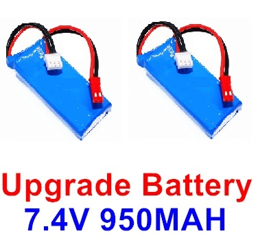 XK X520 Parts-Upgrade Lipo Battery Packs, 7.4V 950mah Battery(2pcs)-Size-65x26x14mm-X520.0013