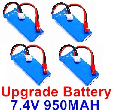 XK X520 Parts-Upgrade Batteries, 7.4V 950mah Battery(4pcs)-Size-65x26x14mm-X520.0013