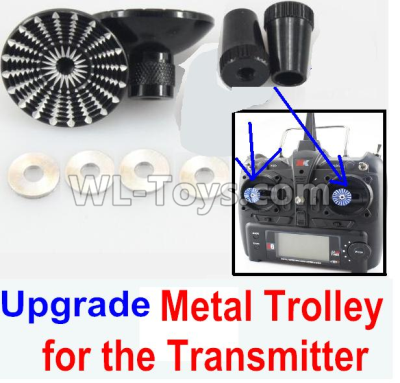 XK X520 Parts-Upgrade Metal Trolley for the Transmitter-Black(Can be used for XK A1200)-X520.0014