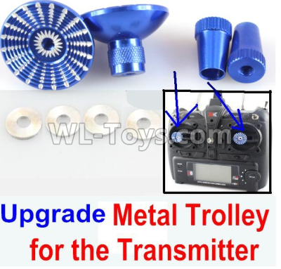 XK X520 Parts-Upgrade Metal Trolley for the Transmitter-Blue(Can be used for XK A600)-X520.0014