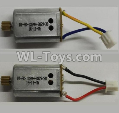 Wltoys Q373 Q373-B-E-C Drone Parts-Reversing-rotating Motor with Black and Yellow wire(1pcs) & rotating Motor with red and Black wire(1pcs),Wltoys Q373 Q373-B Q383-E Q383-C RC Hexacopter Quadcopter Drone Spare Parts Accessories,Wltoys Model Q373 Replaceme