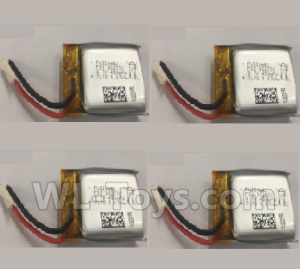 Wltoys Q676 3.7V 450mAh 20C Battery(902530)-4pcs,Wltoys Q676 Parts