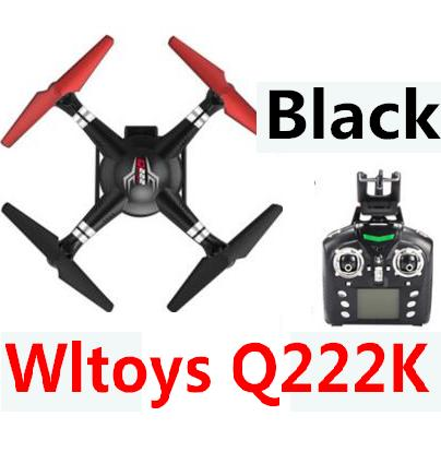 Wltoys Q222K Quadcopter-Black(Include the Wifi Camera and Support frame.Can use your Wifi to view the 5.8G Real-time image transmission FPV Aerial Video)