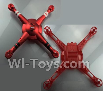 Wltoys Q222K Q222G Drone Parts-Upper and Bottom shell cover-Red,Wltoys Q222K Q222G Parts