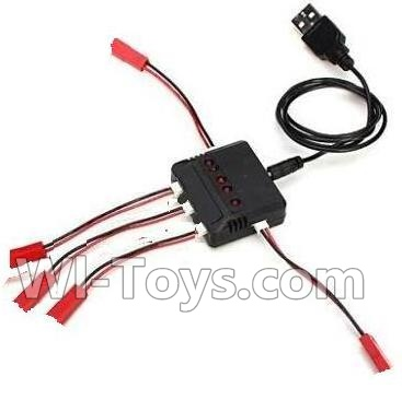 Wltoys Q222K Q222G Drone Parts-Upgrade 1-to-5 charger with balance charger,Wltoys Q222K Q222G Parts