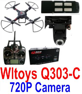 Wltoys Q303-C RC Quadcopter Drone(Include the Ordinary 2,000,000 Pixels Camera unit Parts) Medium-Quadcopter-all FPV-Quadcopter-all