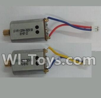 Wltoys Q303 Drone Parts-Reversing-rotating Motor with Blue and Yellow wire(1pcs) & Rotating Motor with red and Blue wire(1pcs),Wltoys Q303-A-B-C Parts