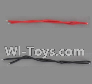 Wltoys Q303 Drone Parts-Motor wire(1x Red and 1x Black),Wltoys Q303-A-B-C Parts