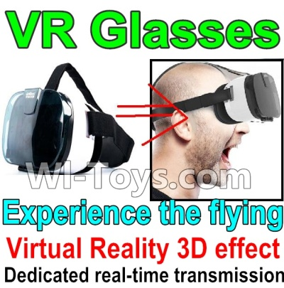 Wltoys Q303 Drone Parts-3D VR Glassess,It suit 4-6.5 inches phone,2,000,000 pixels,You can experience the flying feeling,Wltoys Q303-A-B-C Parts