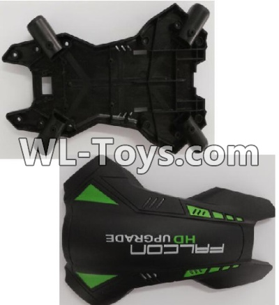 Wltoys Q323 Drone Parts-Upper and bottom body shell coverWltoys Q323-B Q323-C Q323-E Parts
