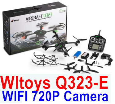 Wltoys Q323-E Quadcopter (Include the HD Wifi 720P Camera unit Parts and Mobile phone support frame),Wltoys Q323 Drone Parts-RC Quadcopter Drone