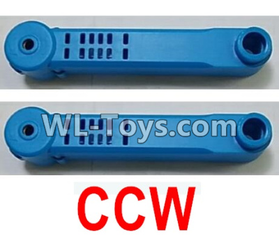 Wltoys Q626 Q626-B Drone Parts-Reversing-rotating Arm unit(2pcs CCW)-Blue,Wltoys Q626-B Parts