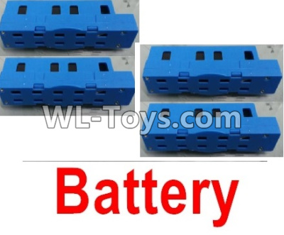 Wltoys Q626 Q626-B Drone Parts-Lipo Battery Parts(4pcs)-Blue,Wltoys Q626-B Parts