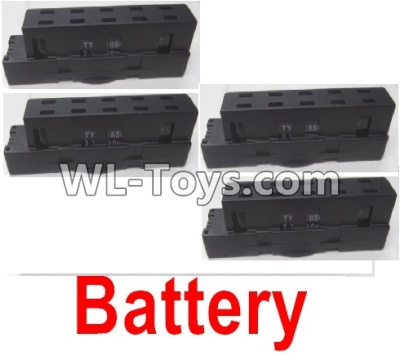 Wltoys Q626 Q626-B Drone Parts-Lipo Battery Parts(4pcs)-Black,Wltoys Q626-B Parts