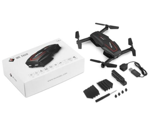 Wltoys Q626-B RC Drone Quadcopter(BNF Version)-Black-(Not include the Transmitter,Only the Whole Drone,USB charger,Support clip,and you control it with your Mobile phone) Wltoys-Quadcopter-all