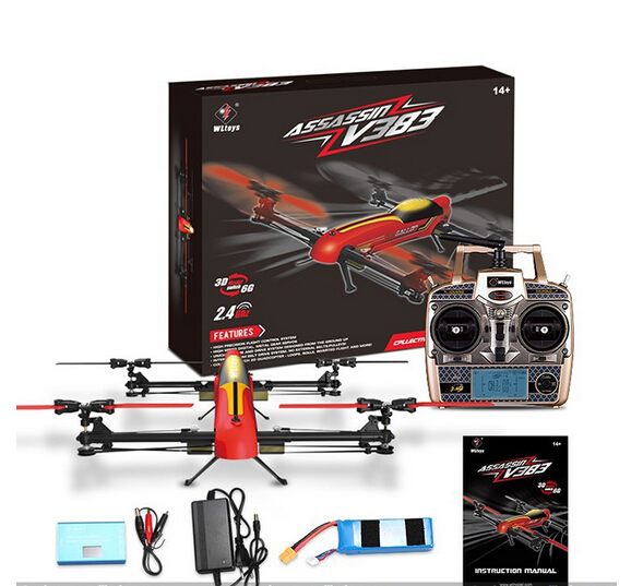 Wltoys V383 Drone Parts-RC Quadcopter Drone-500 Electric 3d Inverted Flight 6 Axis Gyro 2.4ghz 6ch Rc Quadcopter